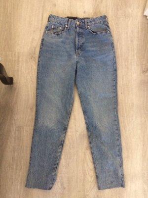 H&M Hoge taille jeans korenblauw-azuur
