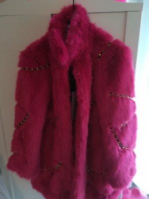 Moschino Gabardina tipo vestido rosa