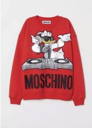 H&M Moschino Sweater Gr.S sold out red