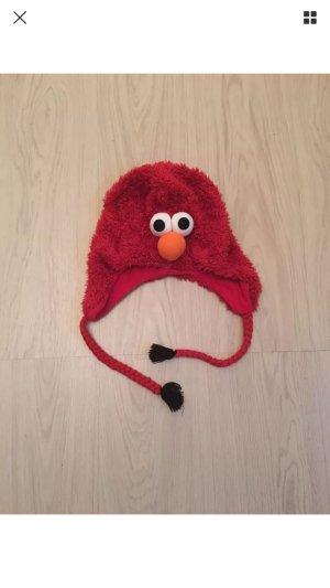 H&M Mütze Fellmütze Wollmütze Elmo Sesamstraße