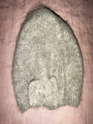 H&M Mütze in grau mit Schleife