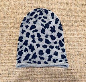 H&M Mütze Leopard grau schwarz weiß