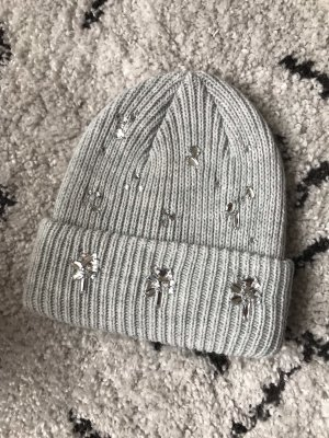 H&M Mütze mit Ziersteinen