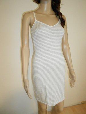 H&M Nachthemd gr XS grau weiß gestreift