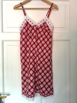 H&M Nachthemd Pyjama Negligé mit Karomuster XS/S 34/36