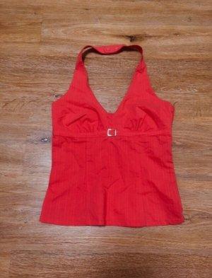 H&M Top estilo halter magenta-rojo claro