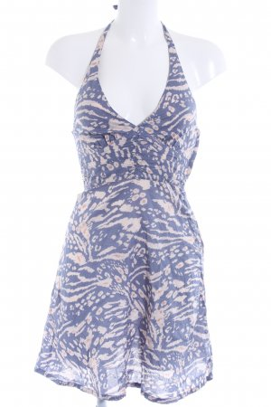 H&M Neckholderkleid abstraktes Muster Romantik-Look