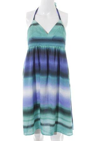 H&M Vestido de cuello Halter estampado batik elegante