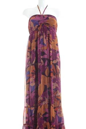 H&M Vestido de cuello Halter estampado floral Estilo playero