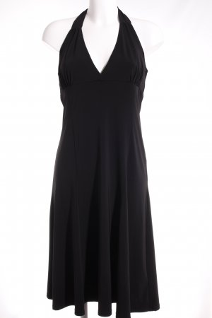 H&M Vestido de cuello Halter negro elegante