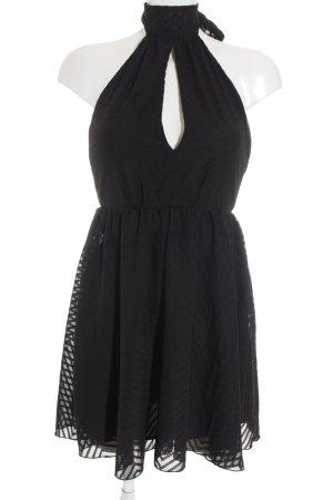H&M Halter Dress black zigzag pattern elegant