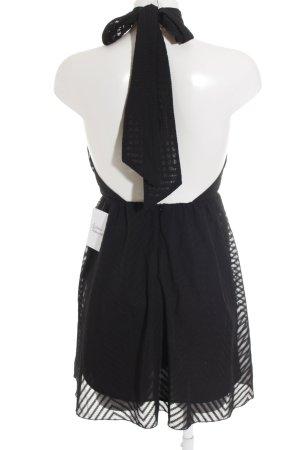H&M Neckholderkleid schwarz Zackenmuster Elegant