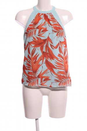 H&M Top estilo halter azul-naranja claro estampado floral look casual