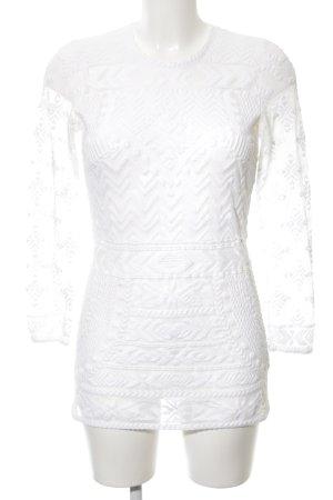 H&M Maglia a rete bianco stile casual