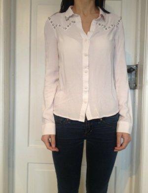 H&M Nieten Bluse Hemd Top Oberteil in rosa Größe 34