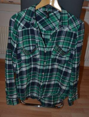 H&M Nieten Hemd Grün