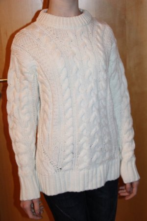 H&M Cable Sweater natural white mixture fibre