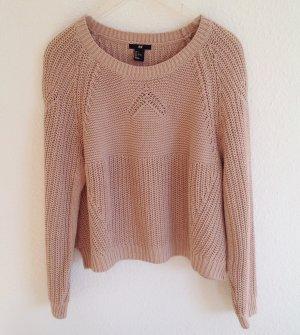H&M Nude Strickpullover Oversized Pulli Pillover Sweater Altrosa M L Boxy Trend