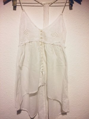H&M Conscious Collection Top de corte imperio blanco puro tejido mezclado