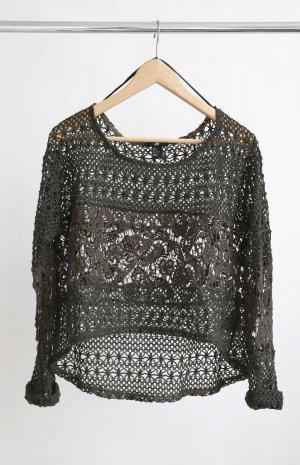 H&M Gehaakt shirt veelkleurig Polyester
