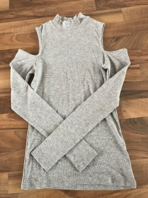 H&M Cut Out Top light grey
