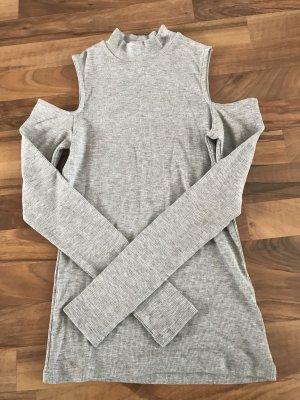 H&M Top cut-out grigio chiaro