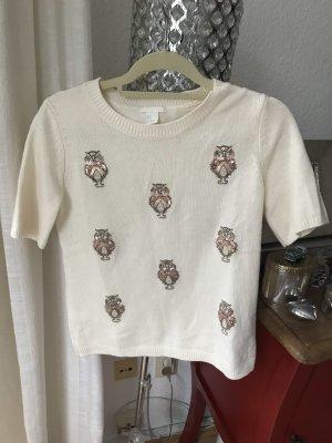 H&M Cardigan a maniche corte bianco sporco-crema