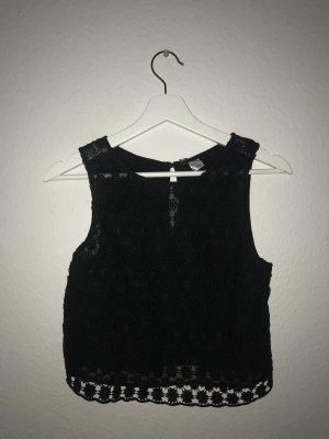 H&M Divided Cropped shirt zwart