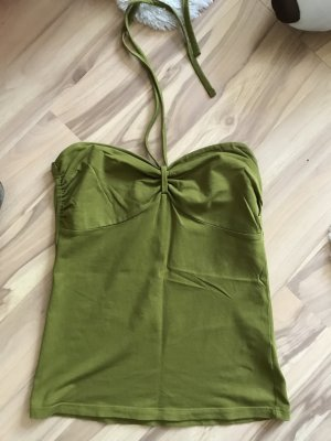 H&M Oberteil Shirt Größe s 36 khaki grün sommer top