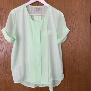 Hennes Collection by H&M Blouse Top turquoise polyester