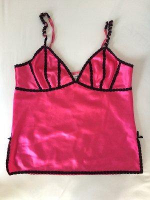 H&M Oberteil Unterwäsche Spaghettiträger sexy pink schwarz