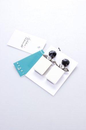 H&M Earclip white-black Gemstone ornaments