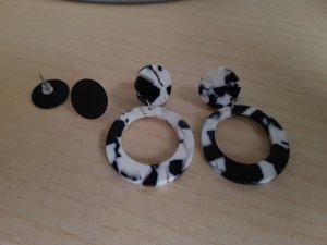 H&M Bungeloorbellen wit-zwart