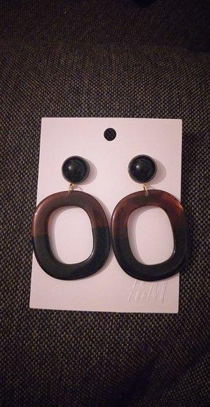 H&M Orecchino a pendente nero-marrone