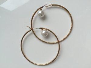 H&M Ohrringe creolen Perle Gold