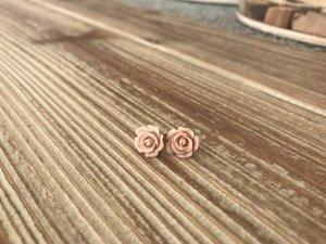 H&M Ohrstecker Ohrringe Blumen Rosen Nude Rose