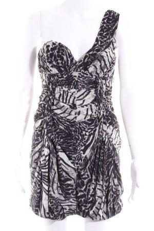 H&M Vestido de un hombro estampado con diseño abstracto elegante
