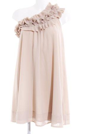 H&M One-Shoulder-Kleid beige Casual-Look