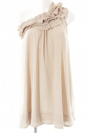 H&M One-Shoulder-Kleid creme-nude Elegant