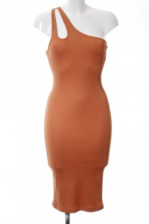 H&M Vestido de un hombro naranja estilo urbano