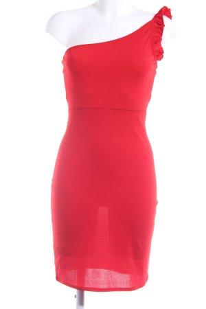 H&M One-Shoulder-Kleid rot Elegant