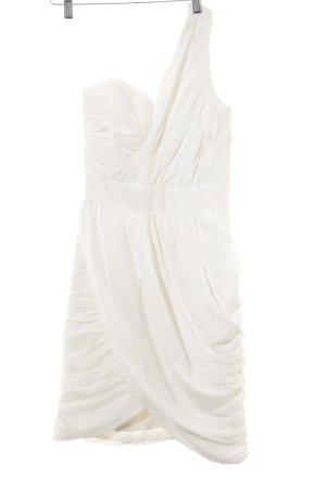 H&M One-Shoulder-Kleid wollweiß Elegant