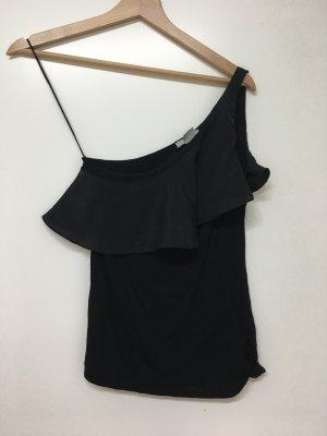 H&M One Shoulder Top black