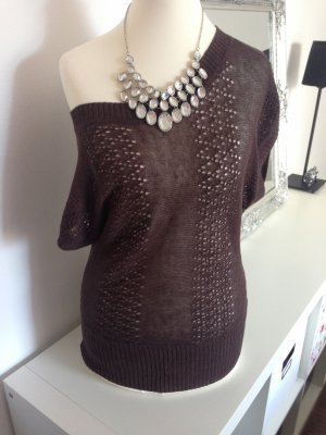 H&M Knitted Top brown