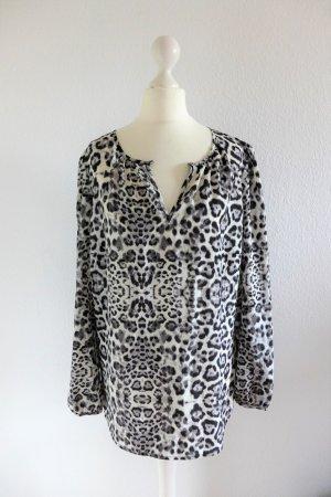 H&M Only Vero Moda Schlupf Bluse Animal Print schwarz weiß Gr. M 38/40