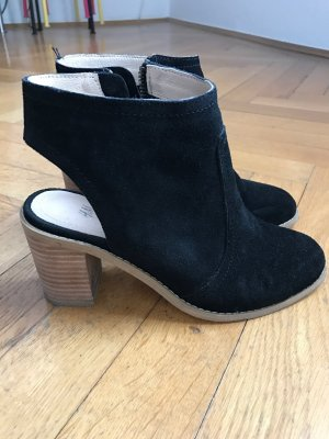 H&M open back booties Wildleder schwarz Gr. 37