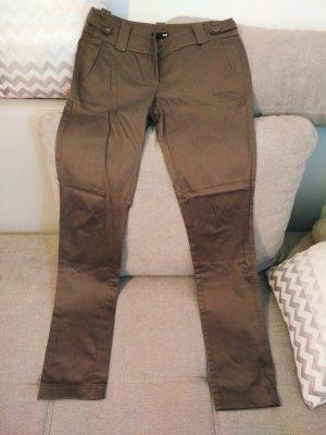 H & M Organic Cotton Hose Slim Fit braun Größe