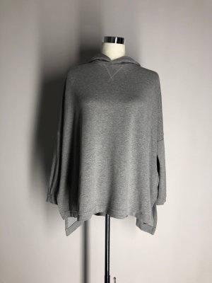 H&M originelles Kapuzensweatshirt, hellgrau