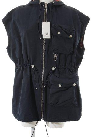 H&M Chaqueta para exteriores azul oscuro look casual