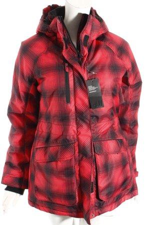 H&M Outdoorjacke schwarz-rot Karomuster sportlicher Stil